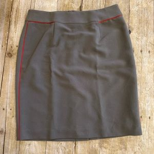 Banana Republic Factory Gray red pin Skirt Sz 6